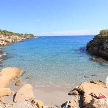 Aguas cristalinas en l'Illot en Ametlla de Mar