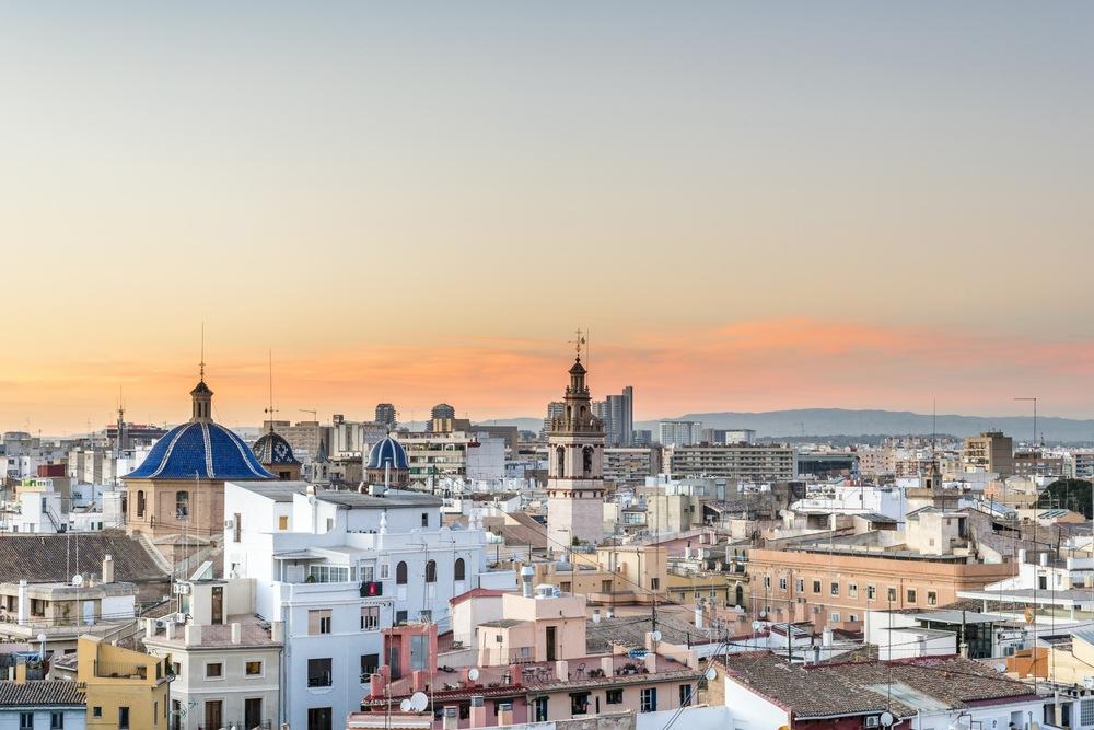 vistas desde el Miguelete de Valencia