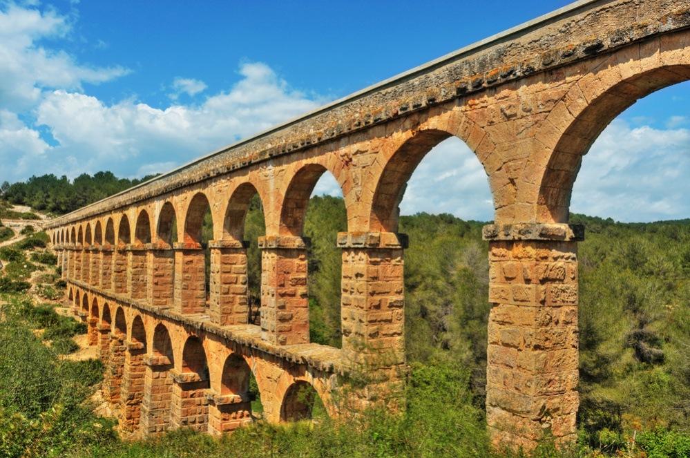 Acueducto romano, acueducto de Les Ferreres, Tarragona. Tarragona romana para ninos.