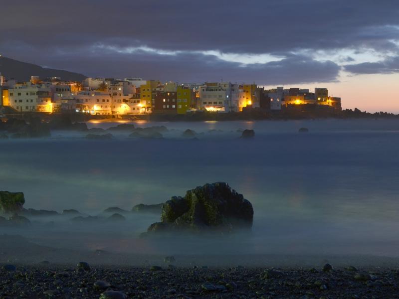 Imagen nocturna de Tenerife